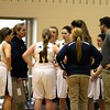 Chris Martin   for The Herald Bulletin<br /> Shenandoah coach Chelsea Kilian huddles the Lady Raiders up during a time out Saturday in a Regional loss to Wabash.