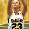 Chris Martin | for The Herald Bulletin<br /> Morgan Tapscott makes a free throw Saturday in a Regional loss to Wabash.