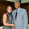 John P. Cleary | for The Herald Bulletin<br /> 2016 Johnny Wilson Award Nominee Kaitlyn Willis of Lapel HS with Johnny Wilson.