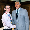 John P. Cleary | for The Herald Bulletin<br /> 2016 Johnny Wilson Award Nominee William Cox of APA with Johnny Wilson.