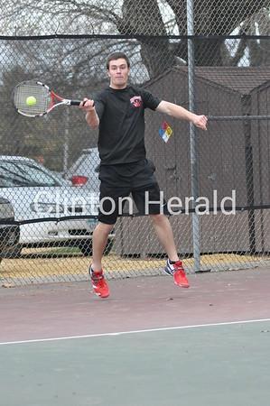 Assumption-Clinton boys tennis (April 16, 2013)