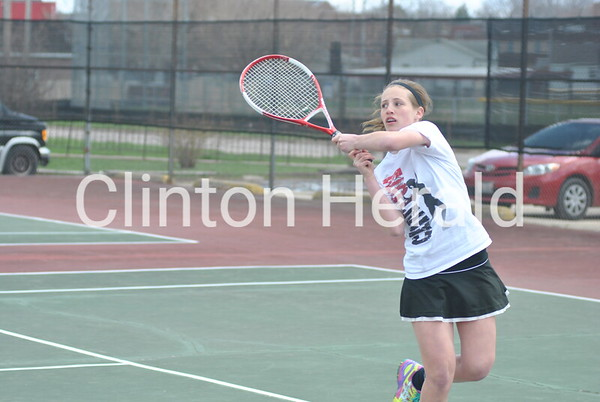 Clinton Invitational Girls Tennis (April 20, 2013)