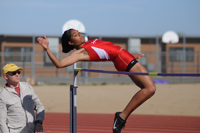 Mariah Gipson High Jump Winner v Village Christian 2009
