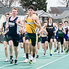 Amherst Josh Hill goes wire to wire to win the mile at the 63rd Comet Relays Saturday April 21. JOE COLON / CHRONICLE