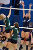 North Penn's Anna Lottes ,18, attepts to block a shot by Pennridge's Krista Hiller ,5, during their contest at North Penn High School on Wednesday September 25,2013. Photo by Mark C Psoras/The Reporter