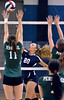 North Penn's Hannah Simon ,20, finesses a shot past Pennridge defenders during their contest at North Penn High School on Wednesday September 25,2013. Photo by Mark C Psoras/The Reporter