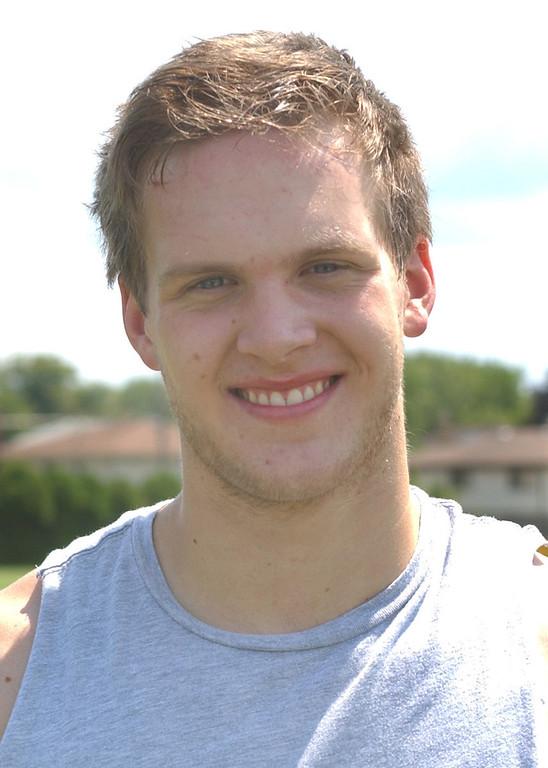 . Southfield Christian High School football player, Taylor Calero.  Photo taken on Tuesday, August 11, 2009, in Southfield, Mich.  (The Oakland Press/Jose Juarez)
