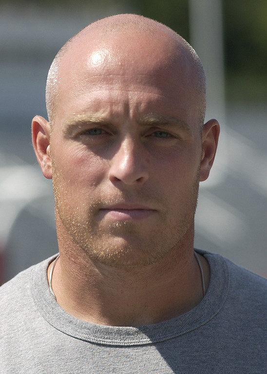 . Troy Athens High School football head coach-- Josh Heppner.  Photographed on Wednesday, August 19, 2009, at Athens HS in Troy, Mich.  (The Oakland Press/Jose Juarez)