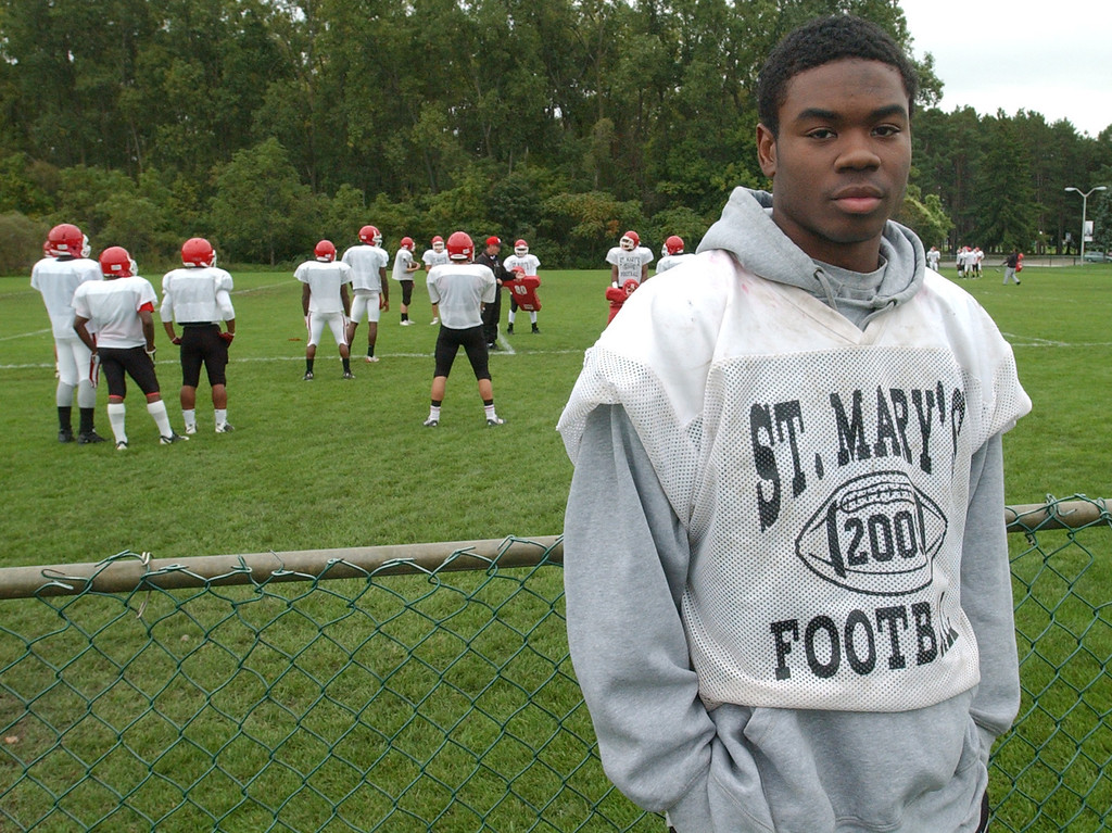 . Orchard Lake St. Mary\'s High School football player-- Earnest Thomas.  Photo taken on Tuesday, October 6, 2009, in Orchard Lake, Mich.  (The Oakland Press/Jose Juarez)