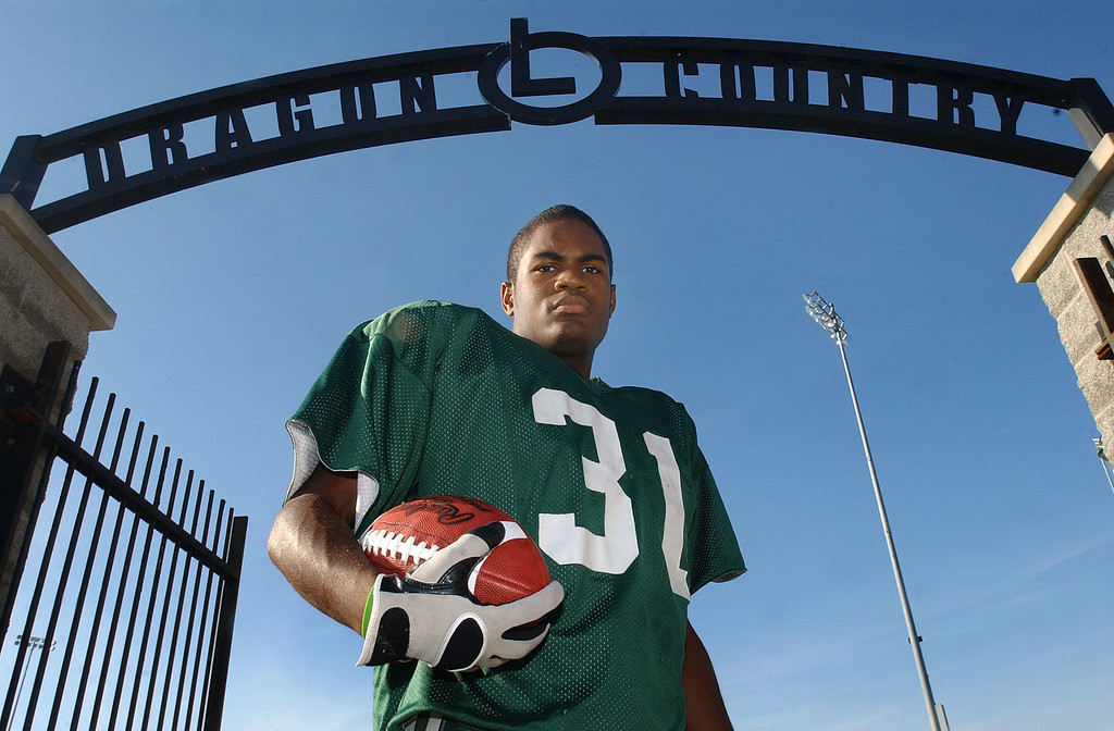 . Lake Orion High School football player-- Marques Stevenson.  Photo taken on Tuesday, October 12, 2010, at Lake Orion HS in Lake Orion, Mich.  (The Oakland Press/Jose Juarez)