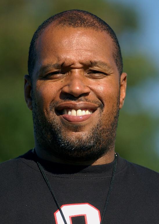 . Oak Park High School football head coach-- Tim Hopkins.  Photo taken on Tuesday, August 15, 2006, at Oak Park HS in Oak Park, Mich.  (The Oakland Press/Jose Juarez)