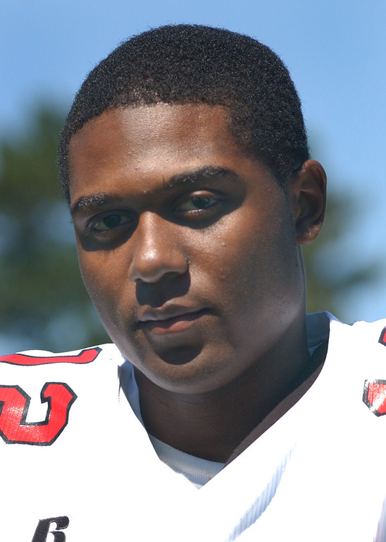 . Orchard Lake St. Mary\'s High School football.  Pictured: Suave Lavallis.  Photo taken on Tuesday, August 19, 2008, at OLSM HS in Orchard Lake, Mich.  (The Oakland Press/Jose Juarez)