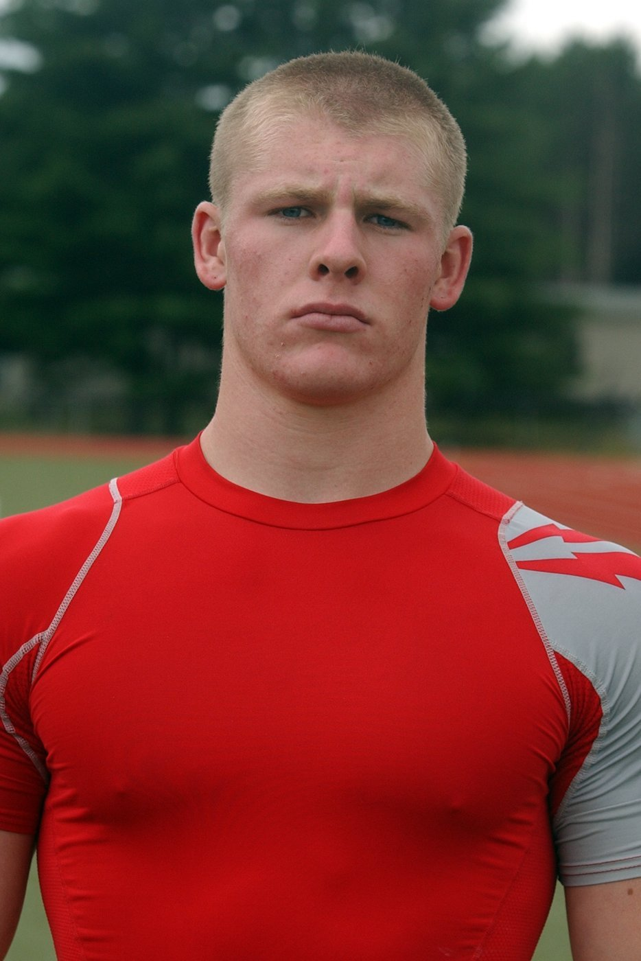 . Milford High School football player Kyle Podvin.