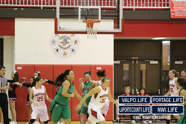 VHS Girls Varsity Basketball VS Portage 12-9-11