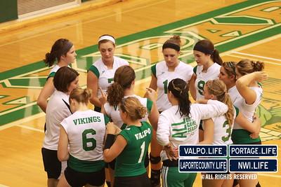 VHS Varsity Volleyball vs Portage 2011 (83)