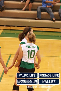 VHS Varsity Volleyball vs Portage 2011 (104)