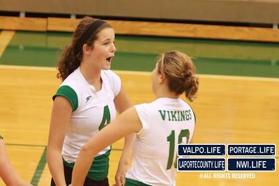 VHS Varsity Volleyball vs Portage 2011 (103)