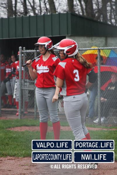 Portage vs  VHS Varsity Softball 4-15-13-17