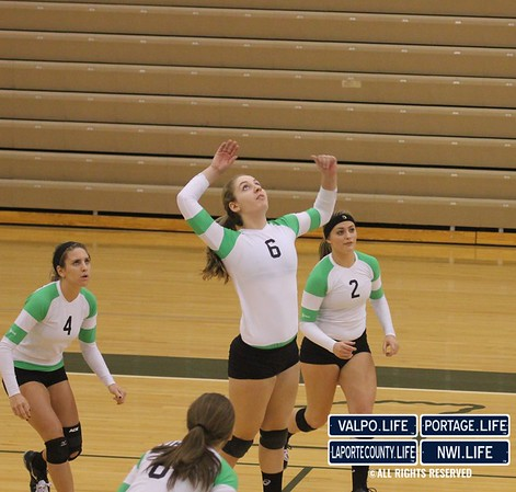 VHS Girls Volleyball Sectionals 2012 vs La Porte