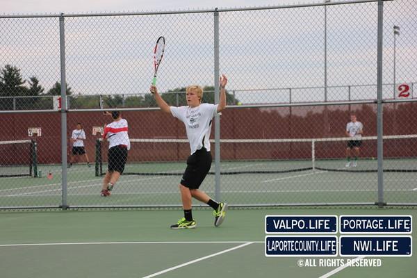 VHS Boys Tennis vs Crown Point 2013