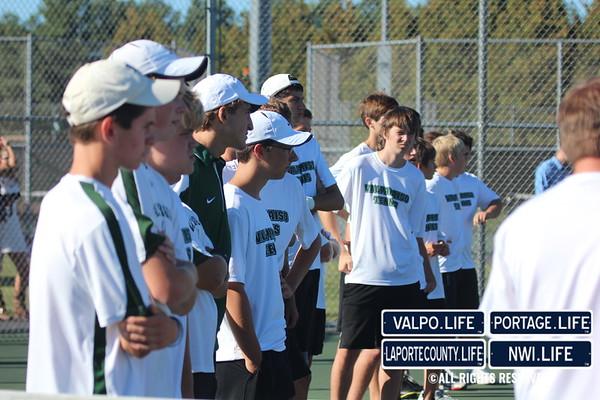 VHS Boys Tennis vs La Porte 2013