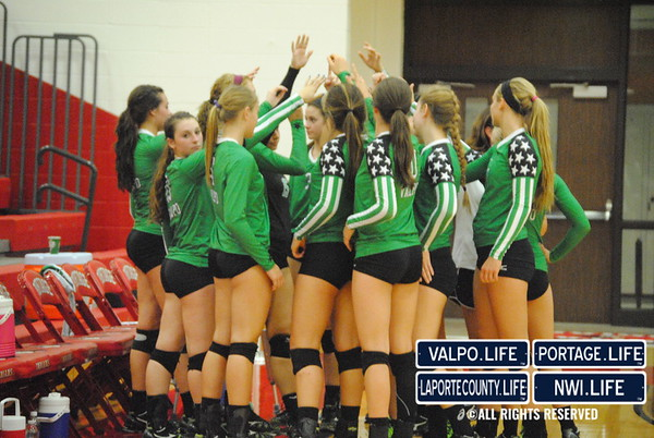 VHS vs. Portage HS Volleyball 2013