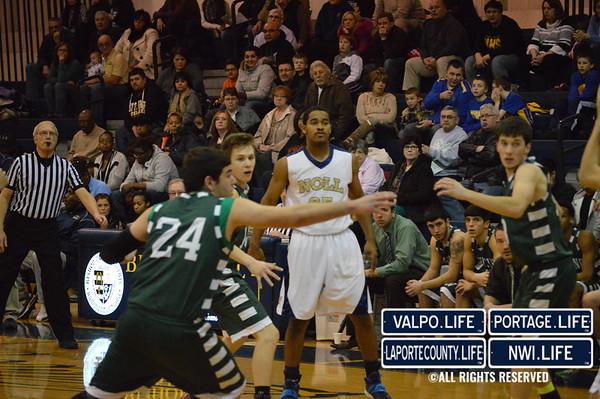 Whiting Varsity Boys Basketball vs Bishop Noll 1-31-2014
