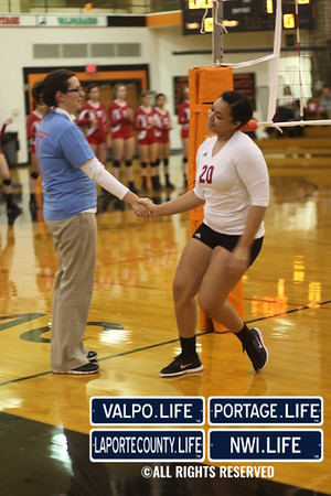 Portage vs. Crown Point Class 4A IHSAA Volleyball Sectional at La Porte
