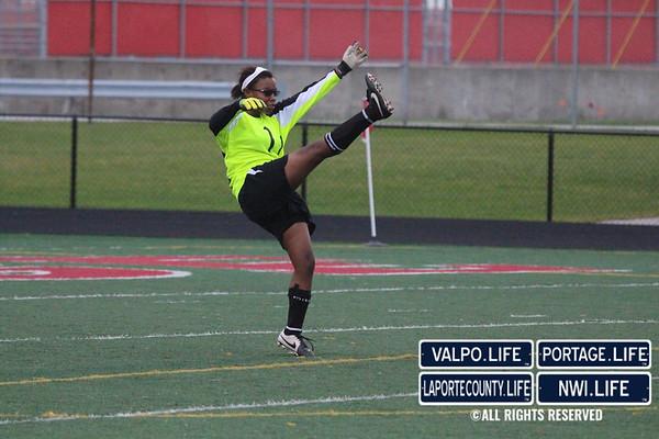 VHS Girls Soccer at Portage 2014