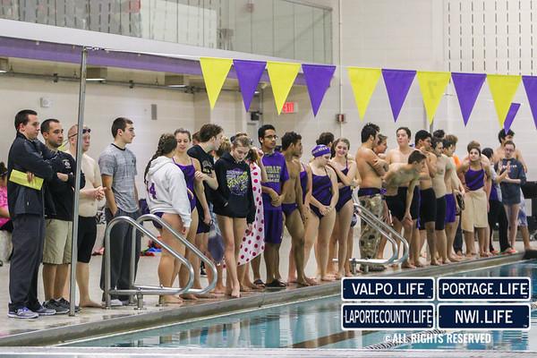 2015 Hobart and Valparaiso High School Swim and Dive Meet