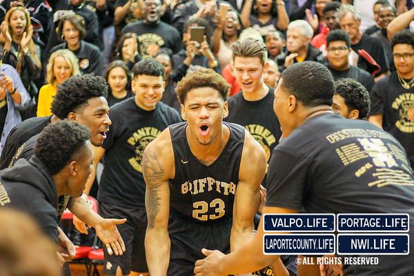 Griffith High School vs. Marion High School 3A Semi-State Basketball