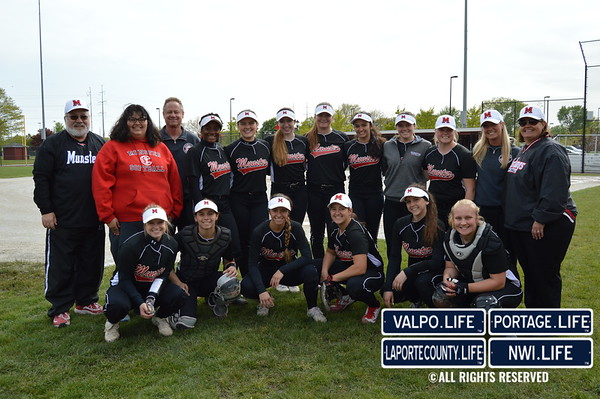 2017 Girls Softball: Munster at Highland
