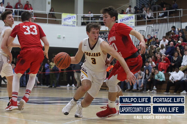 Crown Point vs. Chesterton Boys Basketball Sectionals 2017