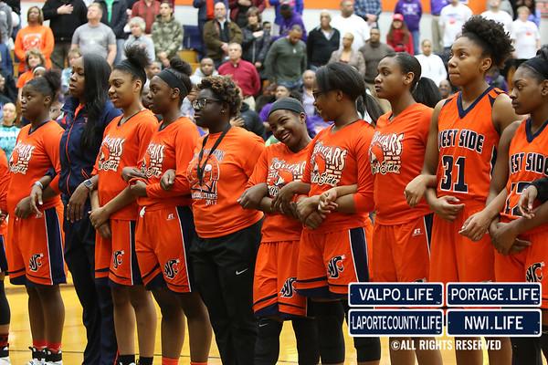 Girls Basketball Regionals: Gary West Side vs. Northridge 2017