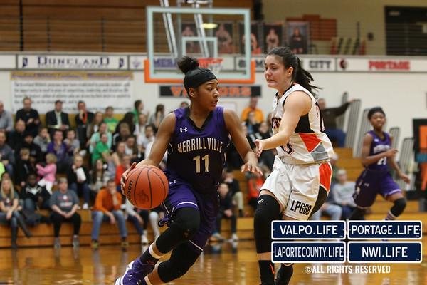 Girls Basketball Regionals: La Porte vs. Merrillville 2017