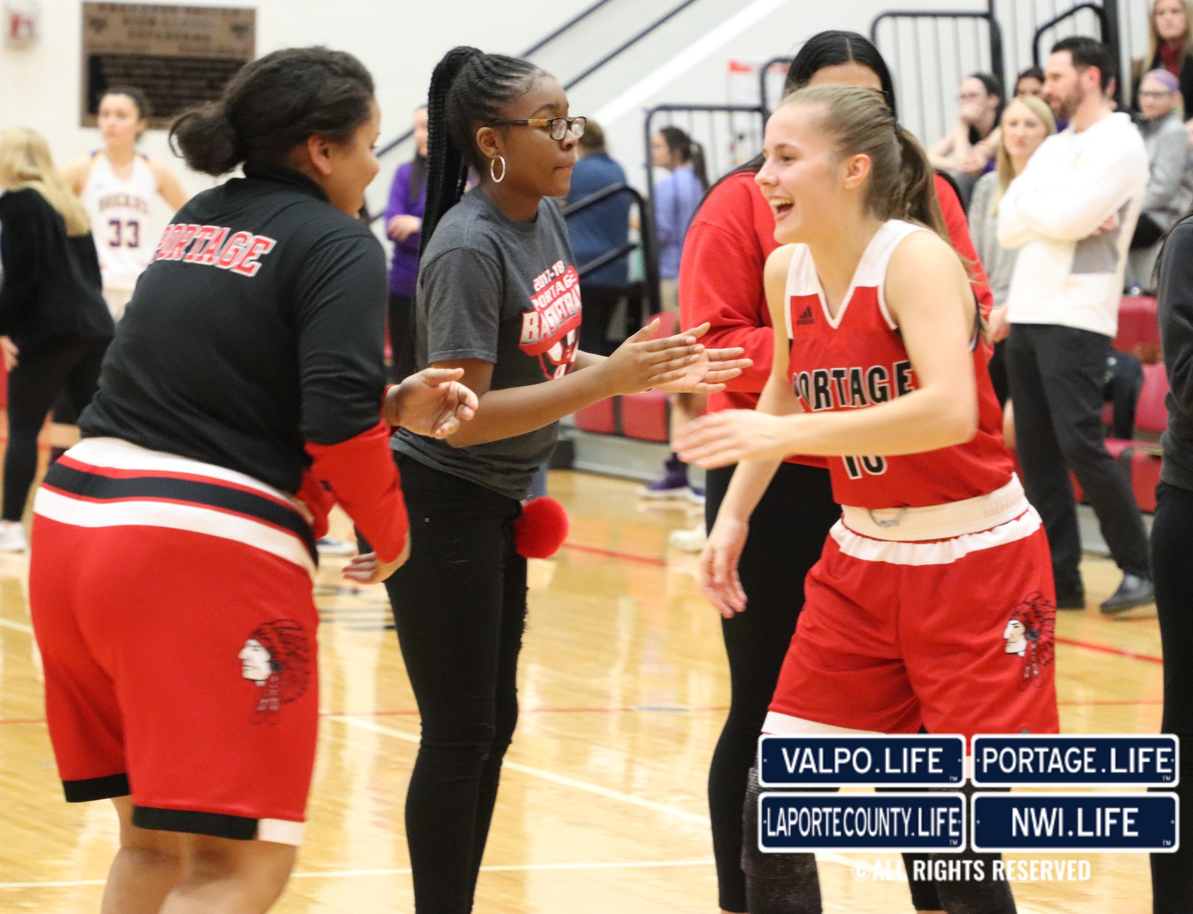 Portage vs Hobart Girls Basketball 2018