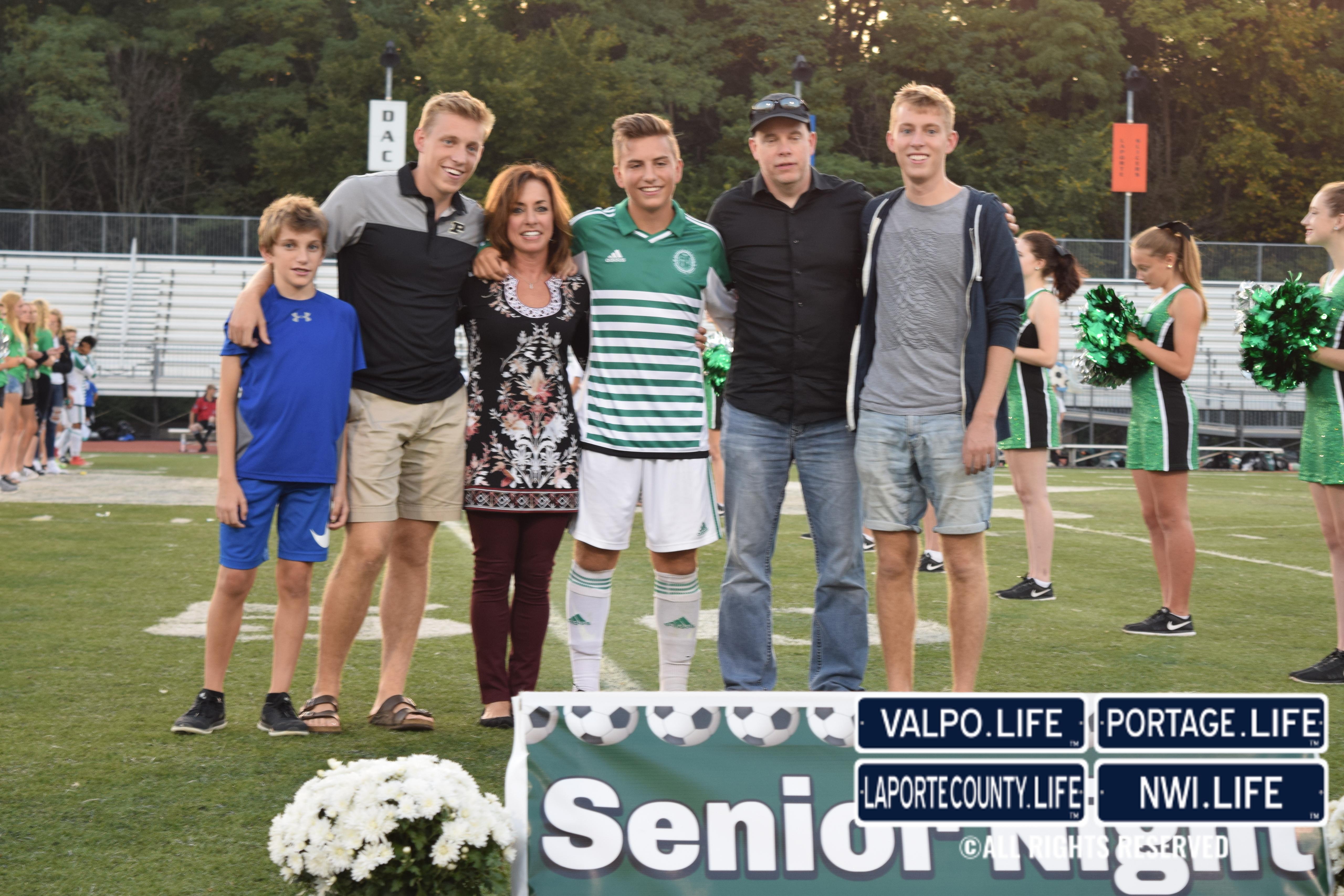 Valpo High School Varsity Boys Soccer Senior Night 2017