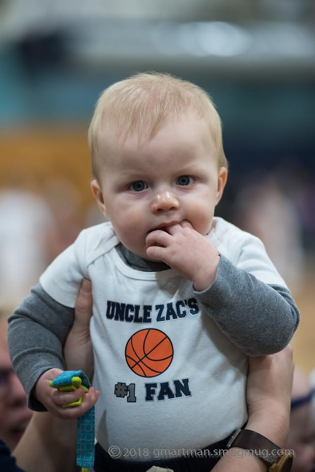 2018 Boys Varsity Basketball-Senior Night-Family and Team