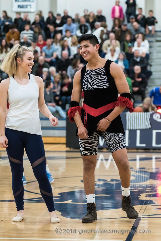 2018 Boys Varsity Basketball-Sr Night-Dance Troupe