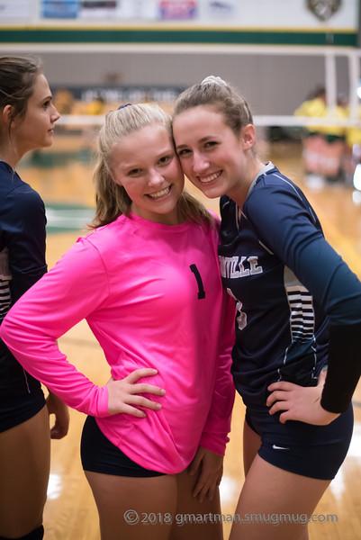 2018 Varsity Volleyball at Putnam