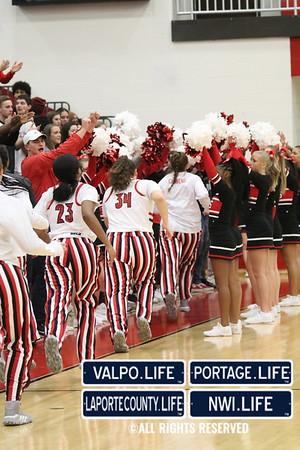 GIRLS BASKETBALL SECTIONALS Portage VS Valparaiso2020