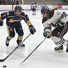 Billerica-Chelmsford co-op girls hockey vs Andover. Andover's Katherine Devaney (5) and Chelmsford's Maya Duby (7). (SUN/Julia Malakie)