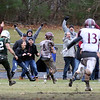 Billerica vs Chelmsford Thanksgiving Day football. Chelmsford fans react at Dylan Brotherston (8) runs for a TD that tied the game 18-18 late in the fourth quarter. (SUN/Julia Malakie)