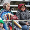 Billerica vs Chelmsford Thanksgiving Day football. Chelmsford fans Sandy Miller, left, and Karen Mahoney, both of North Chelmsford. (SUN/Julia Malakie)