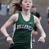 Billerica vs Dracut track meet. Billerica's Hannah Doherty during 1 Mile. She won the girls' race. (SUN/Julia Malakie)