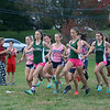 Billerica hosts cross country meet with Tewksbury and North Andover, at Vietnam Veterans Park. Start of girls race. (SUN/Julia Malakie)