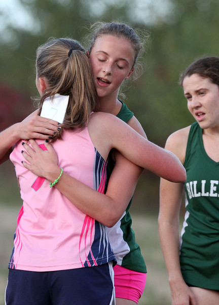 Billerica hosts cross country meet with Tewksbury and North Andover, at Vietnam Veterans Park. (SUN/Julia Malakie)
