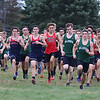 Billerica hosts cross country meet with Tewksbury and North Andover, at Vietnam Veterans Park. Start of boys race. (SUN/Julia Malakie)
