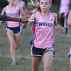 Billerica hosts cross country meet with Tewksbury and North Andover, at Vietnam Veterans Park. Makayla Paige of Tewksbury finishes second. (SUN/Julia Malakie)
