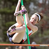 Billerica vs Tewksbury track & field. Tewksbury's Abby O'Keefe clears 6ft in pole vault. (SUN/Julia Malakie)